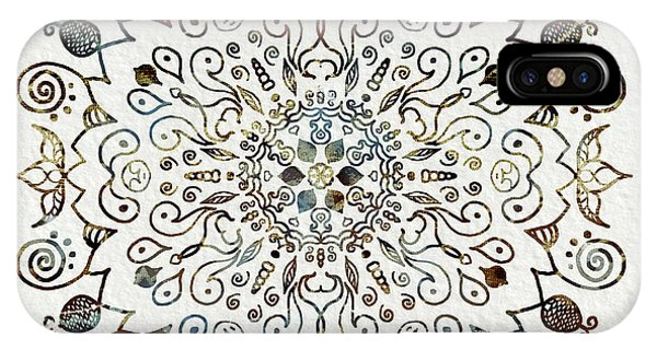 Sacred iPhone Case - Mandala Earth And Water 4 by Patricia Lintner
