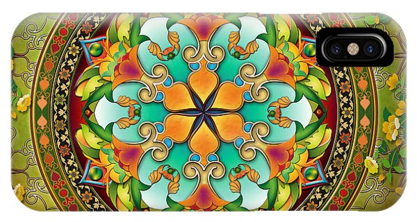 Bar iPhone Case - Mandala Evergreen by Peter Awax