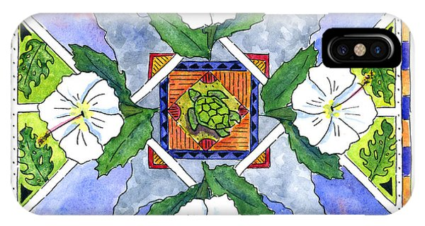Mandala IIi - White Hibiscus IPhone Case