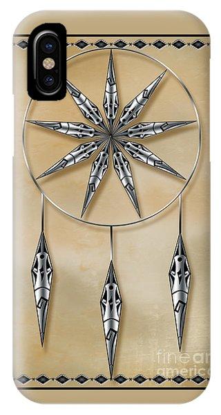 Mandala In Silver IPhone Case