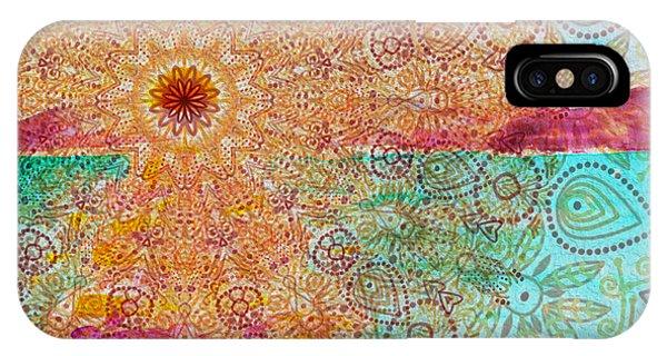 Mandala Sets Over The Dunes IPhone Case