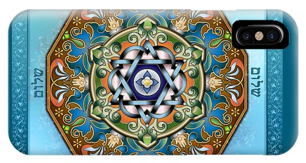 Mandala Shalom IPhone Case