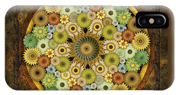 Mandala Stone Flowers IPhone Case