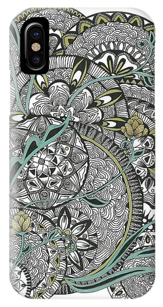 Mandalas With Gold Flowers IPhone Case