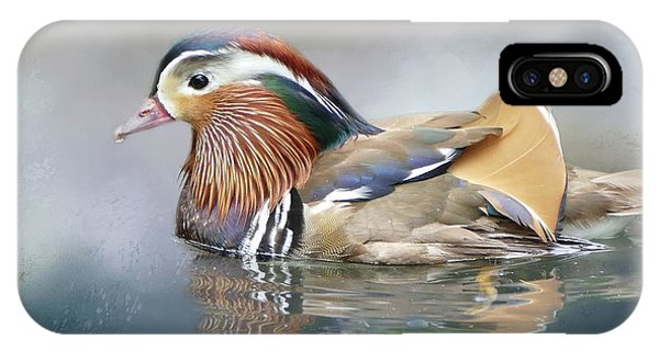 Mandarin Duck Swimming IPhone Case