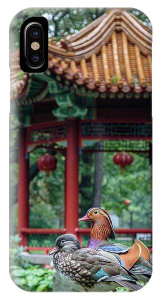 Mandarin Ducks At Pavilion IPhone Case