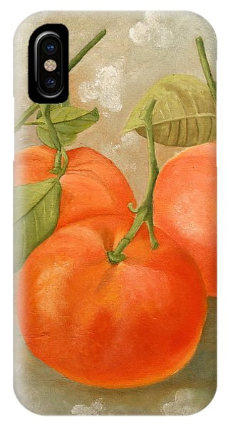 IPhone Case featuring the painting Mandarins by Angeles M Pomata