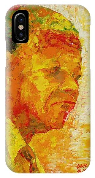 Struggle iPhone Case - Mandela by Bayo Iribhogbe