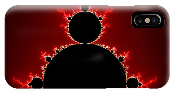 Mandelbrot Set Black And Red Square Format IPhone Case