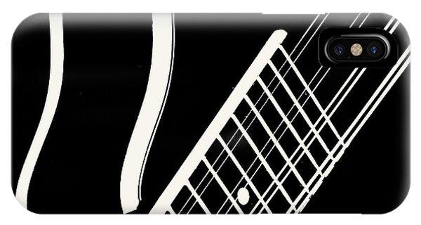 Mandolin Close Bw IPhone Case