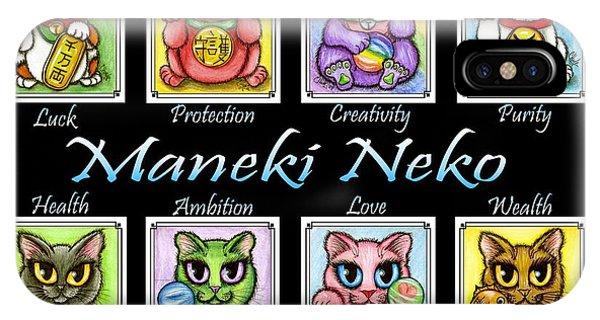 Maneki Neko Luck Cats IPhone Case