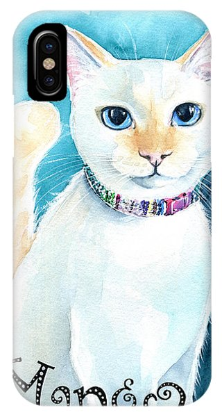 Mango - Flame Point Siamese Cat Painting IPhone Case