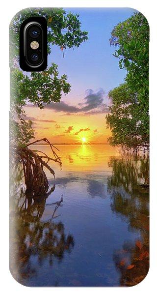 Mangrove Sunset From Jensen Beach Florida IPhone Case
