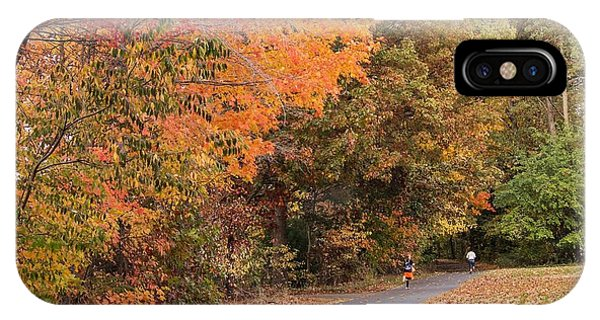 Manhan Rail Trail Fall Colors IPhone Case