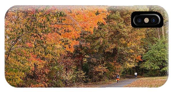 Manhan Rail Trail Fall Colors IPhone Case