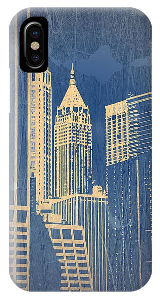 Street Sign iPhone Case - Manhattan 1 by Naxart Studio