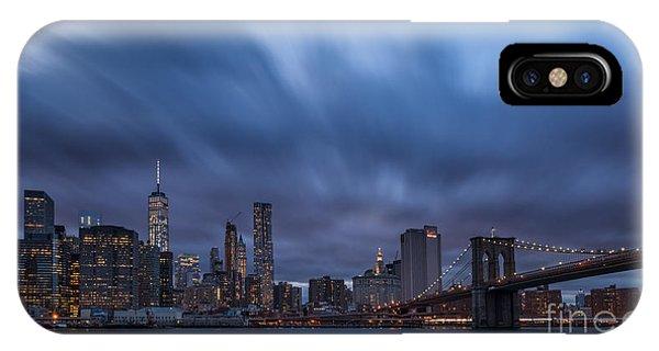 Manhattan And Brooklyn Bridge IPhone Case