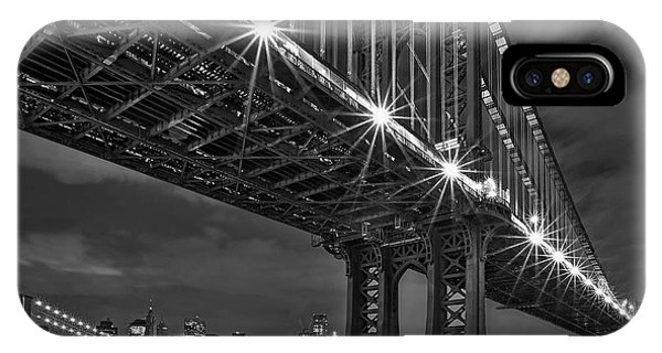 Manhattan Bridge Frames The Brooklyn Bridge IPhone Case