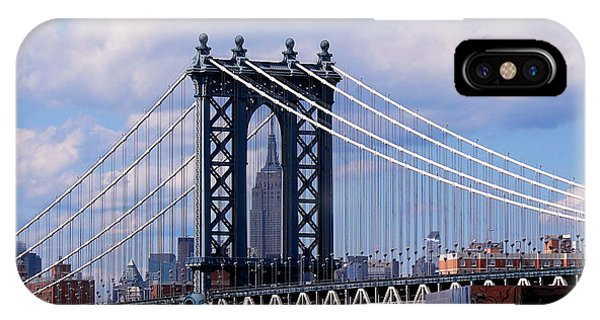 Manhattan Bridge Framing The Empire State Building IPhone Case