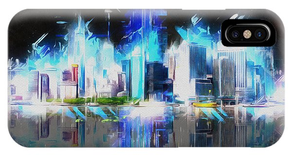 Manhattan Downtown Lights IPhone Case