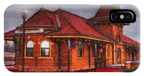 Manhattan Kansas Train Depot IPhone Case