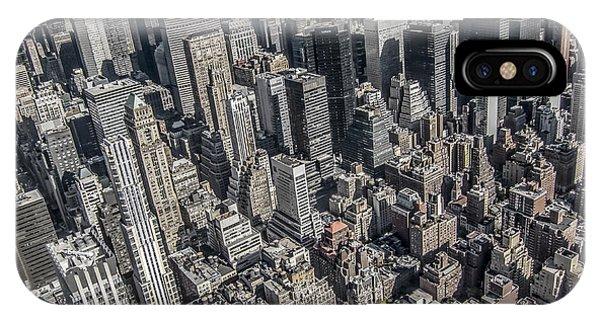 Rooftops iPhone Case - Manhattan by Nicklas Gustafsson