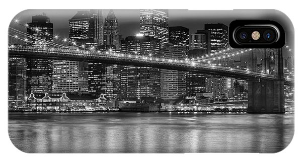 Manhattan Night Skyline Iv IPhone Case