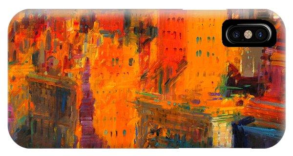 Manhattan Skyline iPhone Case - Manhattan by Peter Graham