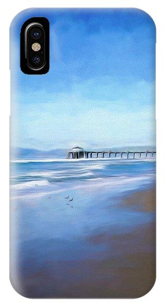 IPhone Case featuring the photograph Manhattan Pier Blue Art by Michael Hope