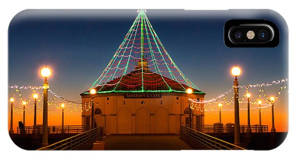 IPhone Case featuring the photograph Manhattan Pier Christmas Lights by Michael Hope