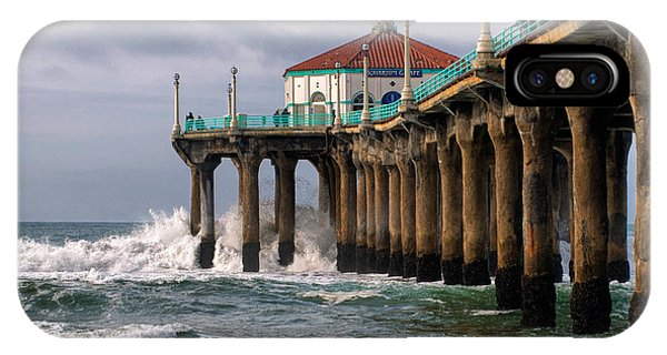 IPhone Case featuring the photograph Manhattan Pier Surf by Michael Hope