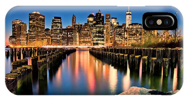 Manhattan Skyline At Dusk IPhone Case