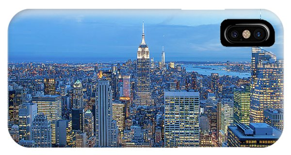Building iPhone Case - Manhattan Skyline New York City by Az Jackson