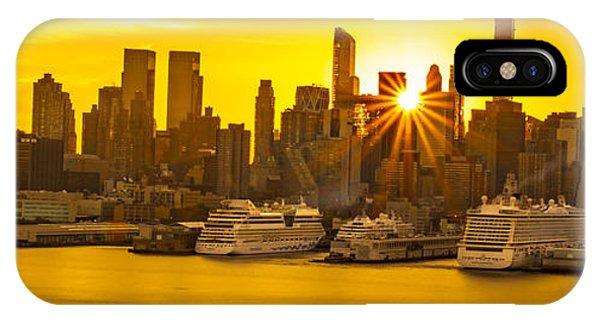 Manhattan's Ports At Sunrise IPhone Case