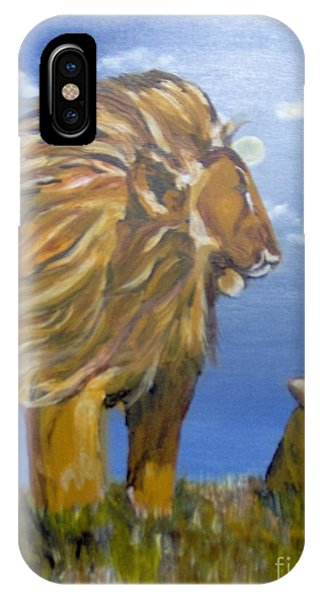 IPhone Case featuring the painting Manhood Training by Saundra Johnson