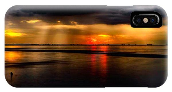 Beam iPhone Case - Manila Bay Sunset by Adrian Evans