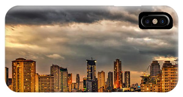 Condo iPhone Case - Manila Cityscape by Adrian Evans