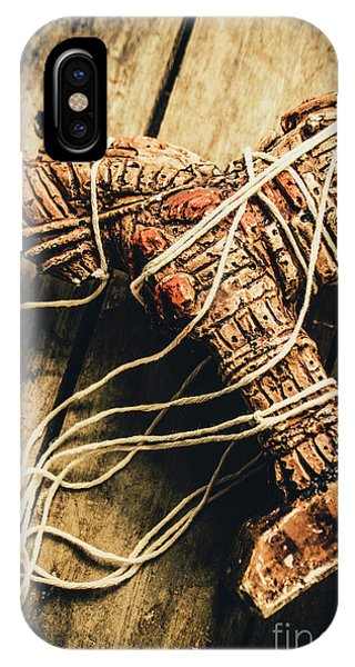 Construction iPhone Case - Manipulating The Trojans  by Jorgo Photography - Wall Art Gallery