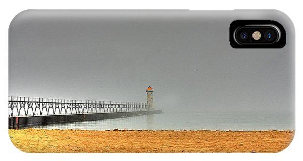 Manistee Light And Fog IPhone Case