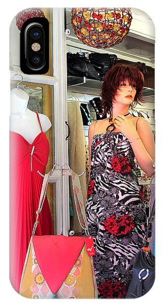 Mannequin With Stripped Flower Dress IPhone Case