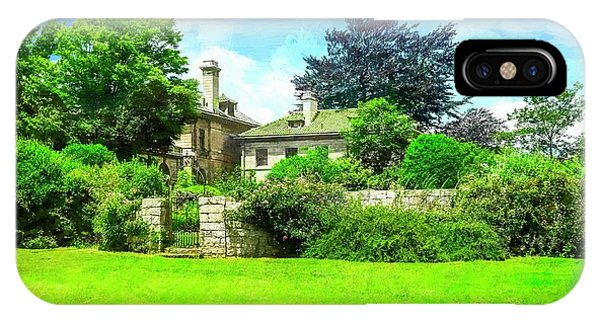 Mansion And Gardens At Harkness Park. IPhone Case