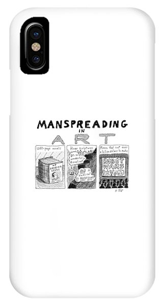 Manspreading In Art IPhone Case