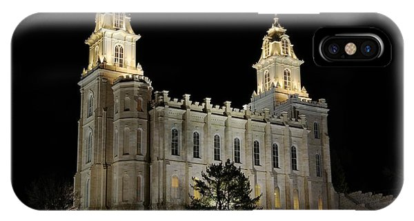 Manti Temple Night IPhone Case
