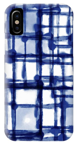 Mantra In Blue- Art By Linda Woods IPhone Case