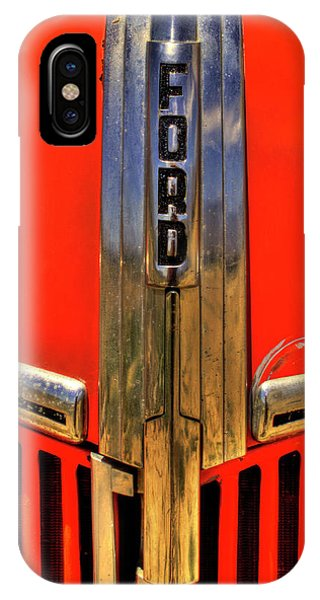 Manzanar Fire Truck Hood And Grill Detail IPhone Case