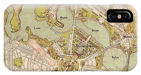 Canberra iPhone Case - Map Of Canberra 1913 by Andrew Fare