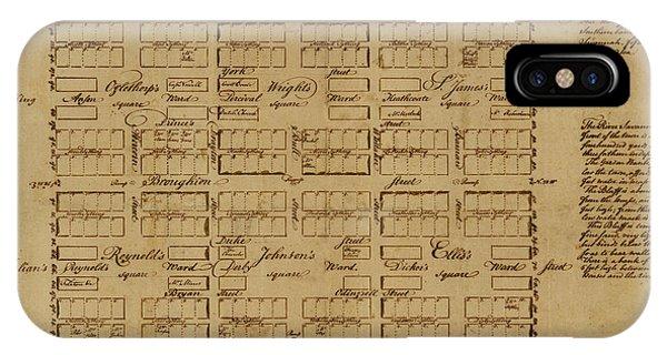 Map Of Savannah 1761 IPhone Case
