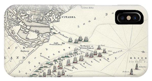 Map Of The Battle Of Copenhagen IPhone Case