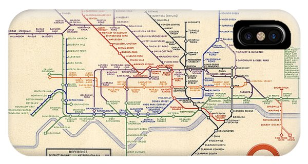 Map Of The London Underground - London Metro - 1933 - Historical Map IPhone Case
