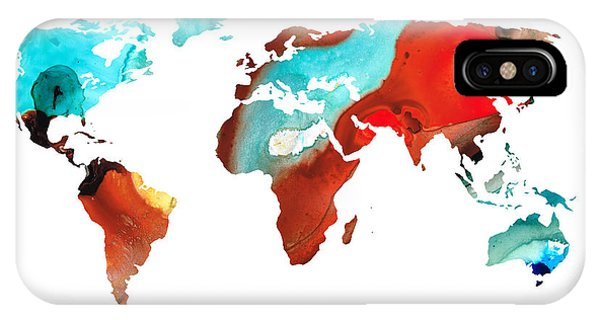 Map Of The World 4 -colorful Abstract Art IPhone Case